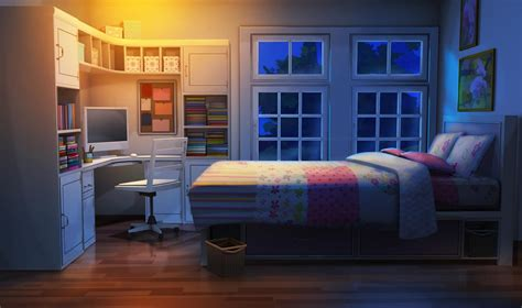 wallpaper anime room int teen sister s bedroom night episode pinterest
