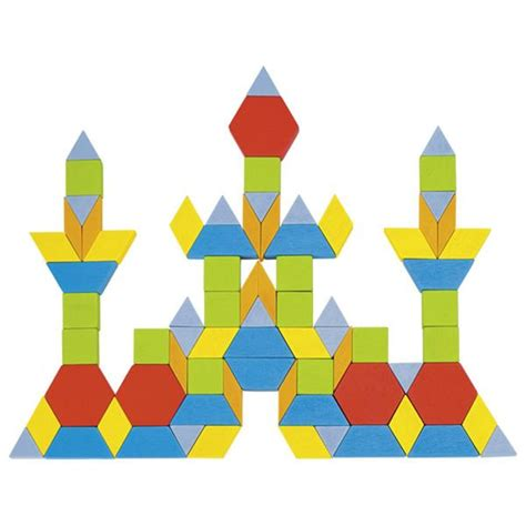 wood pattern blocks 250 pieces geometric wooden pattern blocks