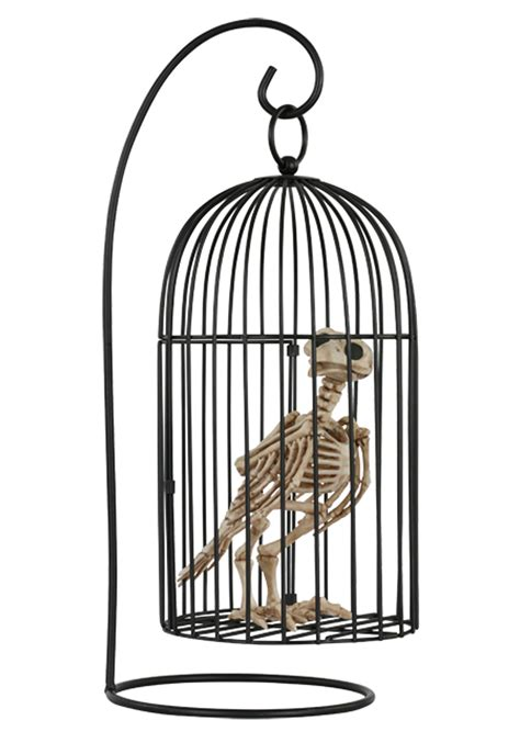 Bird In A Cage skeleton bird in cage