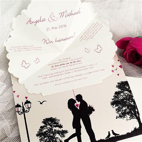 Karten Hochzeitseinladung by Hochzeitseinladung Quot Stella Quot Mit Auffaltbarem Schirm