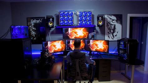 Dual Desk Office Ideas 9 amazing pc gaming battle stations