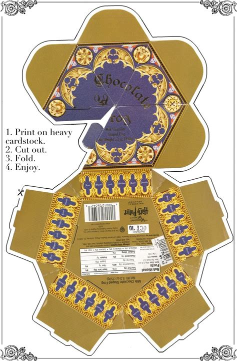 chocolate frog box template with cards uniquely grace honeydukes display harry potter