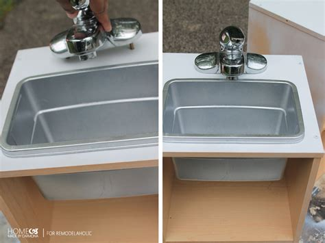 Kitchen Sink Play Remodelaholic Easy Play Kitchen From A Cube Shelf