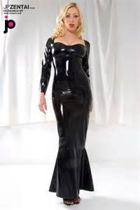 Zentai suits gt latex clothing gt black long sleeves sexy latex dress