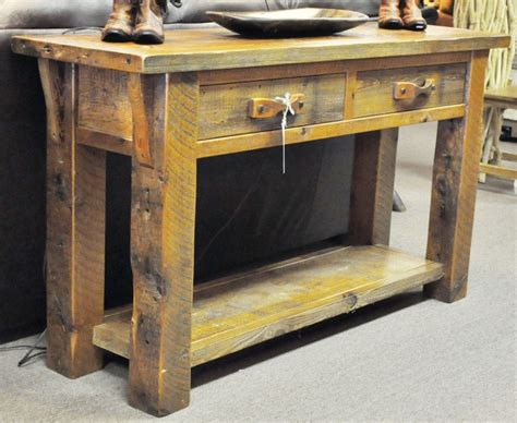 furniture sofa table barnwood sofa table barn wood sofa table southern creek