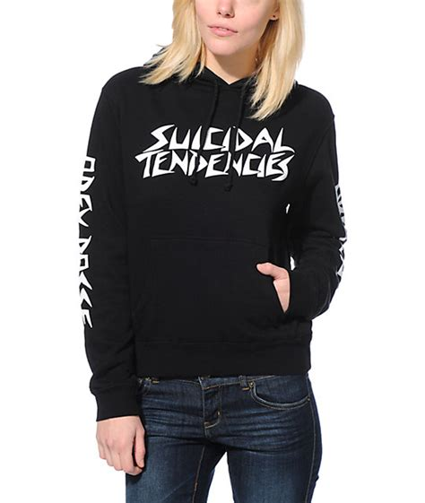 Tendencies Sweater Takama Sweater obey x suicidal tendencies pro black pullover hoodie at zumiez pdp