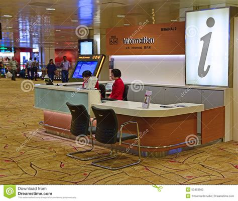 What Time Does The Customer Service Desk At Walmart by Information Desk At Changi Airport Terminal 2 Editorial