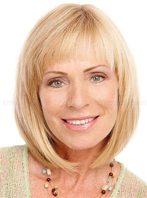 mid lengh hairstyles for over 50 with fringe 20 latest bob hairstyles for women over 50 bob