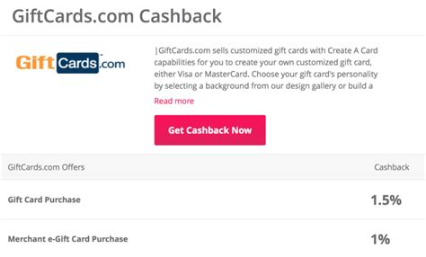 Cash Back For Gift Cards - 1 5 cash back on gift cards with topcashback points miles martinis