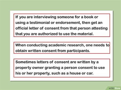consent letter to use property c 243 mo escribir una carta de consentimiento 9 pasos