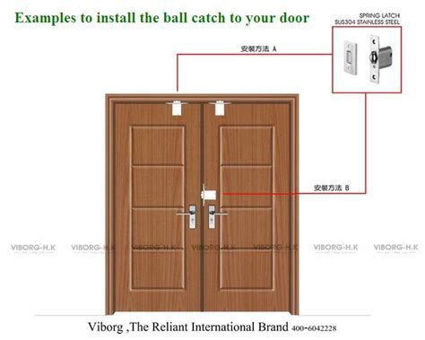 304 Stainless Steel Casting Closet Door Ball Catch For All Catches For Closet Doors