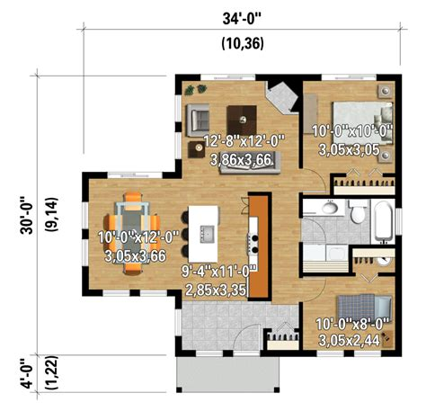 850 sq ft floor plan contemporary style house plan 2 beds 1 baths 850 sq ft plan 25 4382