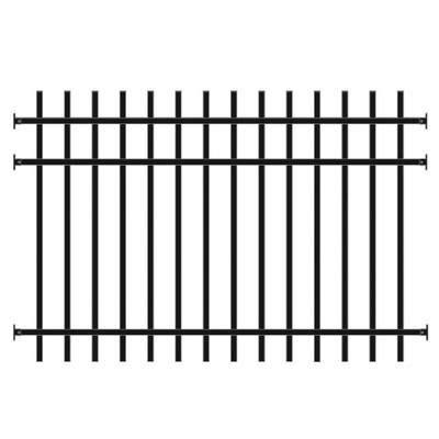 peak products aluminum fence panel black  foot