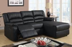 small black leather reclining sectional sofa set recliner