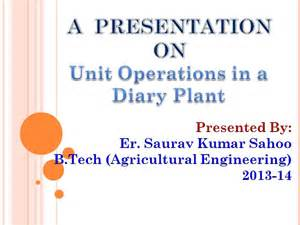 milk processing operations in a dairy plant