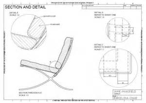 Office Chair Technical Drawing 06 05 2011 Barcelona Chair An Autocad Drawing Sheet 2