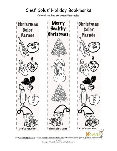 printable christmas bookmarks to color holidays 12 bookmark healthy christmas coloring page for kids