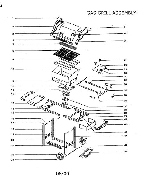weber genesis silver grill parts gas grill diagram parts list for model genesissilverang