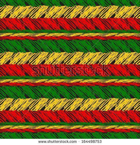 jamaica pattern stock vector seamless pattern in rasta colors vector