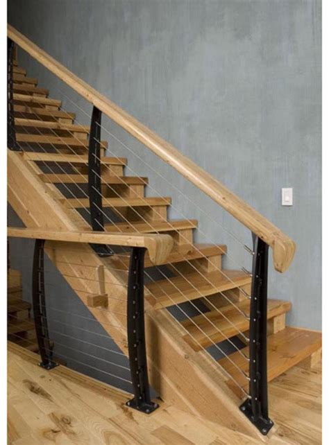cable banister keuka studios with cable railing system design in new york