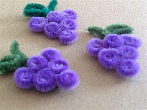 imagenes de uvas en foami uvas hechas con limpia pipas pipe cleaner grapes