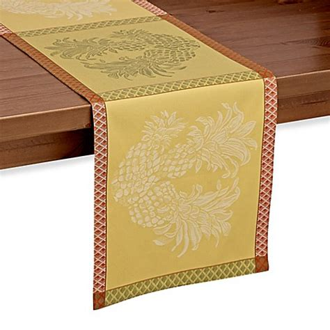 bed bath and beyond table runners tommy bahama woven jacquard pineapple table runner bed