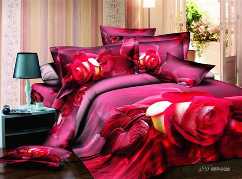 red and yellow comforter sets red yellow rose bedding set 3d bedclothes reactive 3d