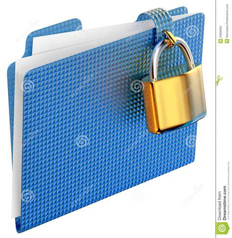 golden lock stock image image 12671151 the blue folder with golden hinged lock stock illustration