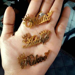 Nama Kalung jasa buat perhiasan nama liontin nama kalung nama