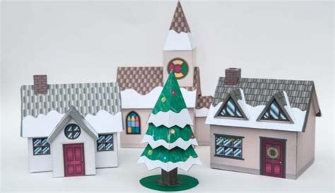 Papercraft Town - time paper model by