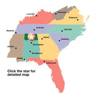 Map Of Southern United States by Southeast Usa Map Images