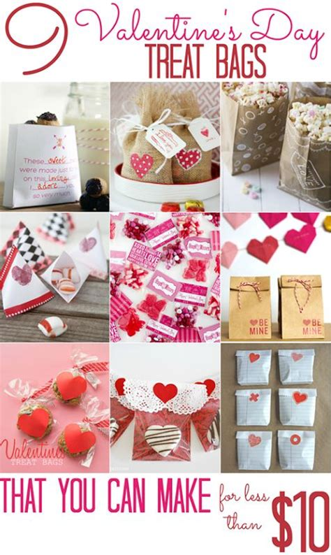 cheap valentines day ideas 9 s day treat bags that you can make for less