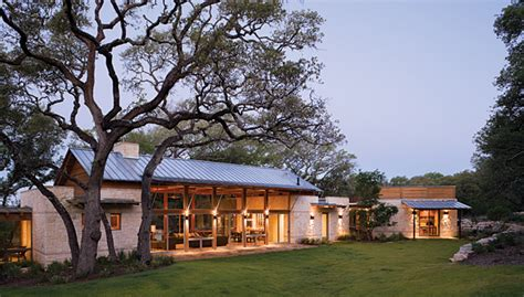 texas ranch house local limestone ties together on spanish style texas ranch