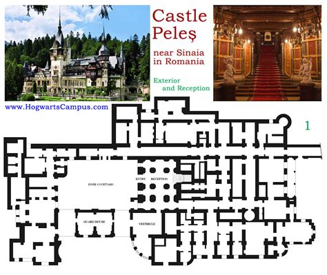 hogwarts castle floor plan peles castle floor plan 1st floor