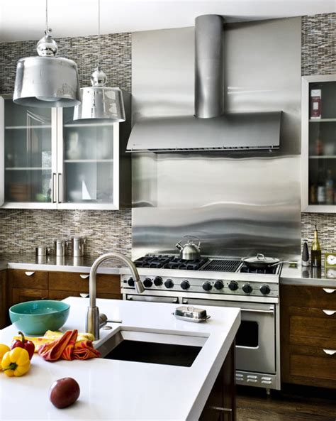 stainless steel backsplash stove where did you get the stainless steel backsplash