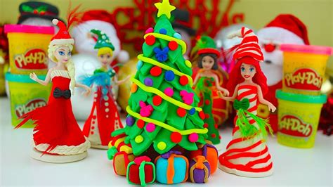 play doh christmas tree frozen disney princess youtube