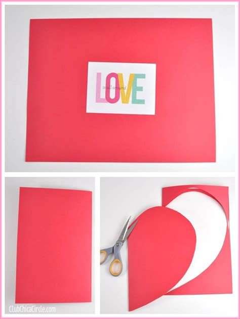 How To Make A Gift Card Envelope Out Of Paper - how to make a homemade envelope with a heart shape