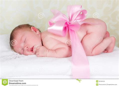 Gift From Baby - newborn baby as a gift stock photo image of caucasian