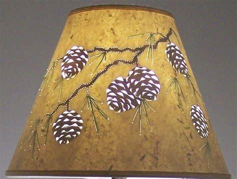 pine cone l shade handmade reverse painted cut pierced pine cone design