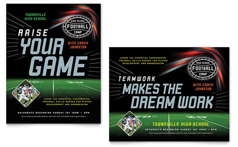 baseball card template indesign football poster template design