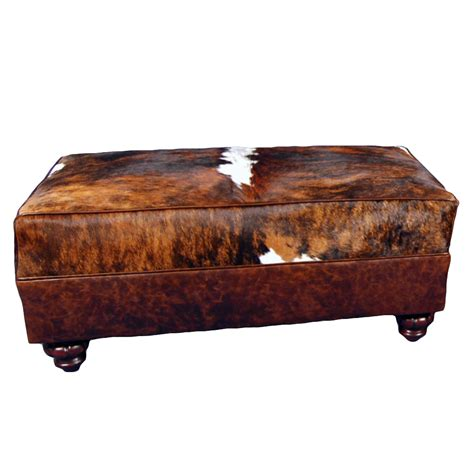 Cowhide Large Ottoman How To Make A Large Ottoman