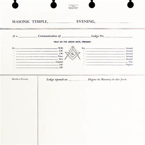 Post Binder Lodge Minute Sheets Kalamazoo Regalia Masonic Lodge Website Templates