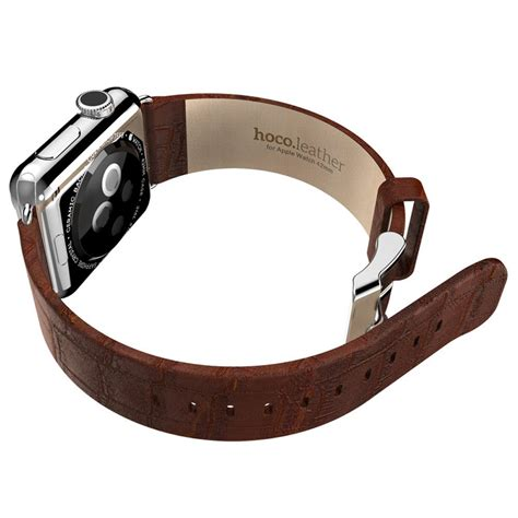 Hoco Bamboo Texture Leather Band For Apple Series 1 2 3 Hoco Bamboo Texture Leather Band For Apple 42mm Series 1 2 3 Brown Jakartanotebook