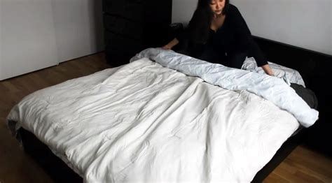 can you put a comforter in a duvet cover the duvet burrito how to put a duvet cover on your