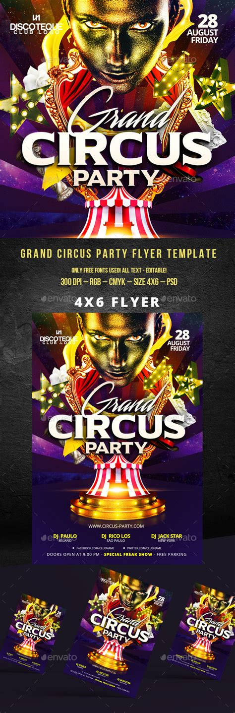 Free Vintage Carnival Flyer Templates Free 187 Fixride Com Circus Poster Template Free
