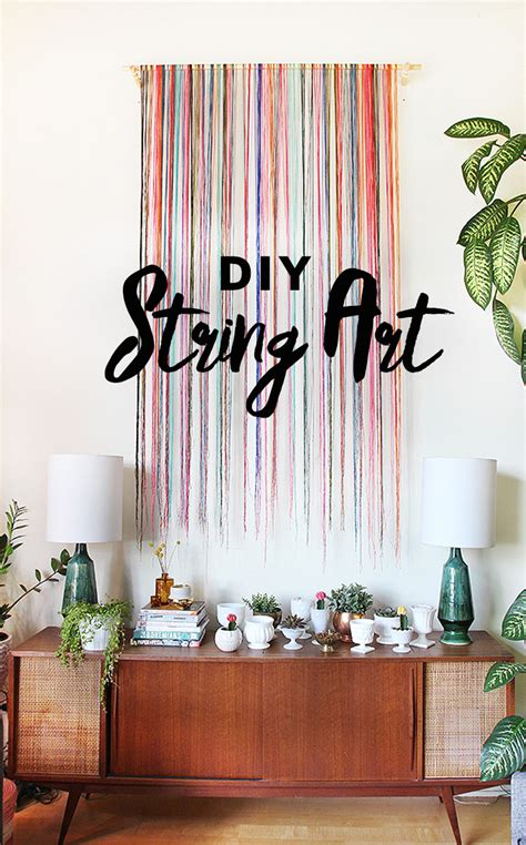 interesting and unique wall decor ideas for family rooms diy string wall art the sweet escape creative studio
