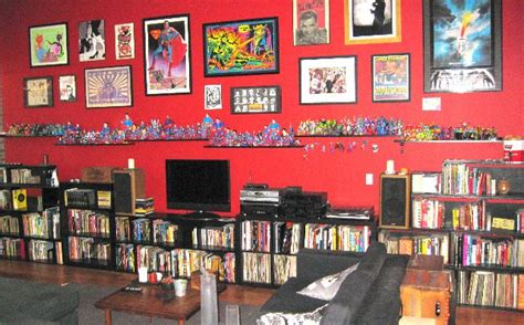 Comic Book Themed Living Room by Comic Book Room Collectible Displays