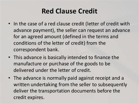 Letter Of Credit Clause Documentary Credit