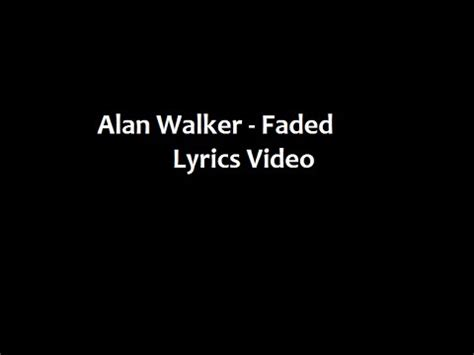 alan walker wants you to know you re not alone four over alan walker feat iselin solheim faded lyrics video