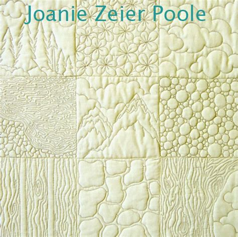 Machine Quilting Stitches by Joanie Zeier Poole Upcoming Machine Quilting Classes